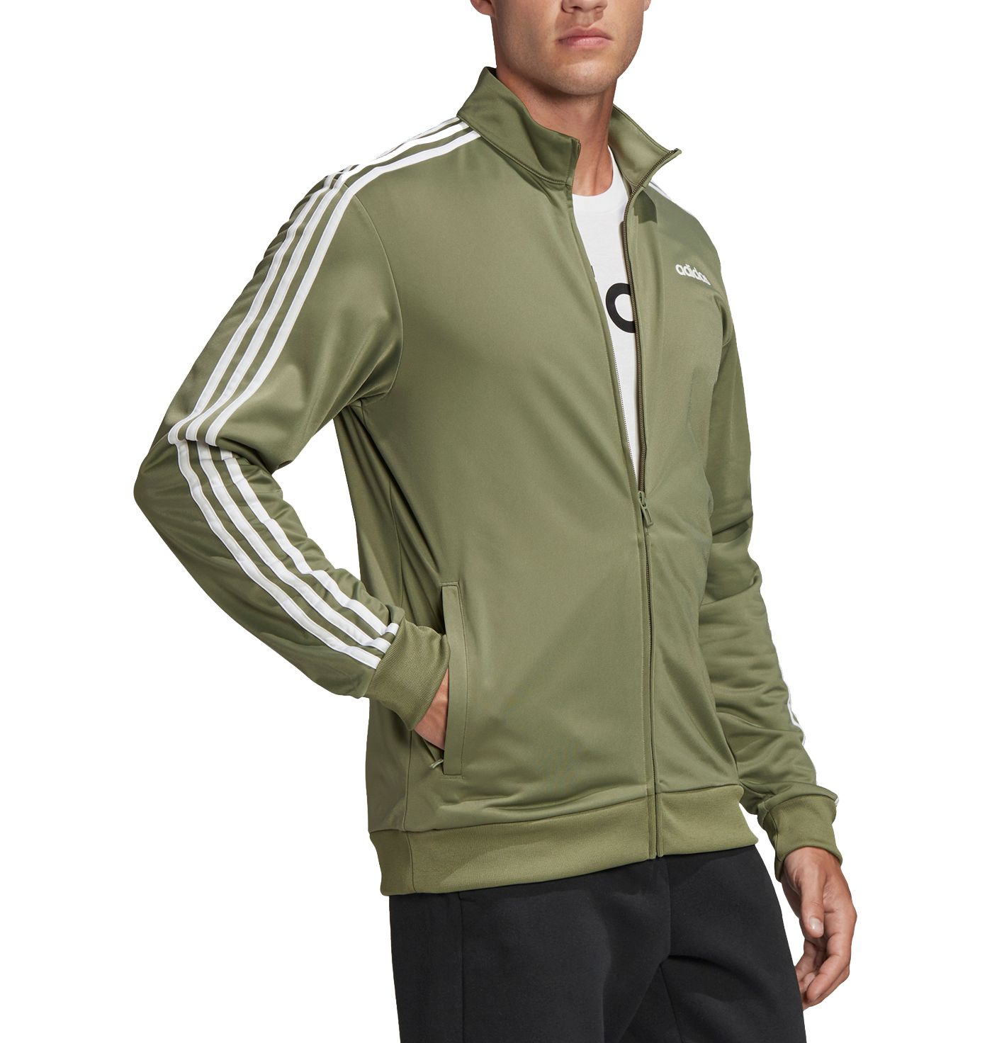adidas Men's Essentials 3-Stripes Tricot Track Jacket (Regular and Big & Tall)