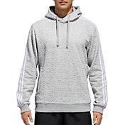 adidas Men's Cotton Fleece 3-Stripes Badge Of Sport Hoodie