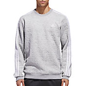 adidas Men's Essentials Jacquard Crew Long Sleeve Shirt
