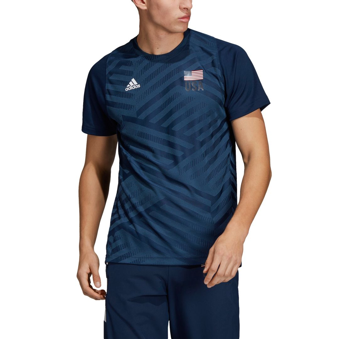 the best attitude c1d33 be370 Adidas Men's USA Volleyball Replica T-Shirt