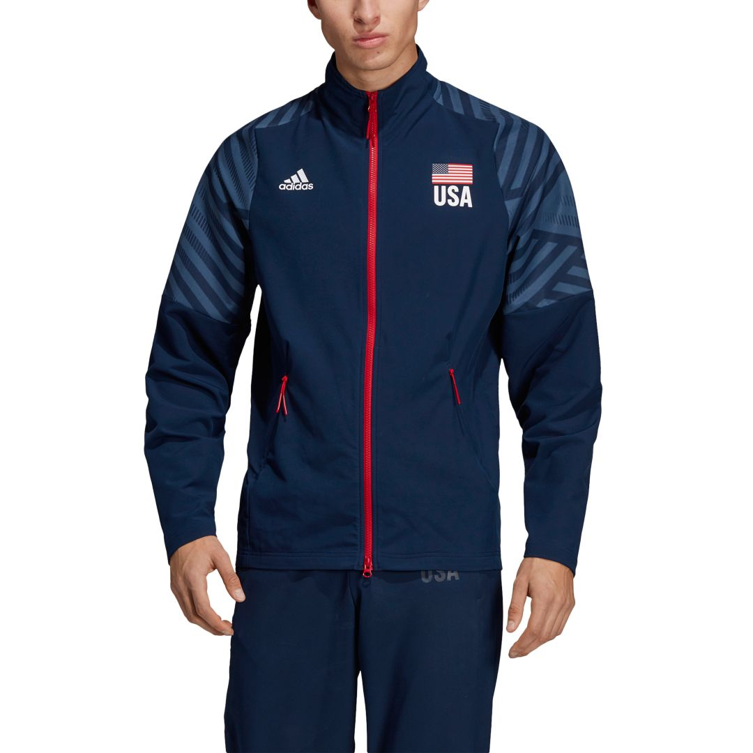 84a4c2f8ea2 Adidas Men's USA Volleyball Warm-Up Jacket | DICK'S Sporting Goods