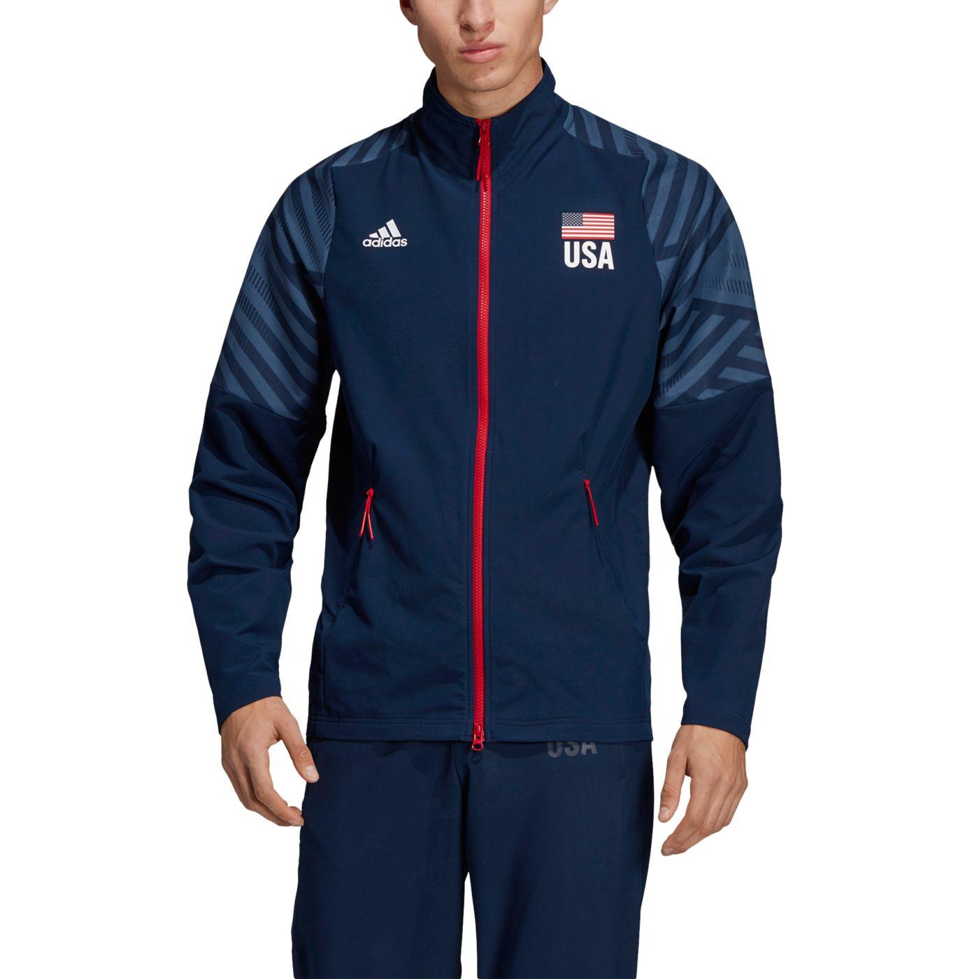 Adidas Men's USA Volleyball Warm-Up Jacket