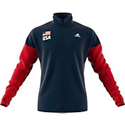adidas Men's USA Volleyball Full-Zip Warmup Jacket