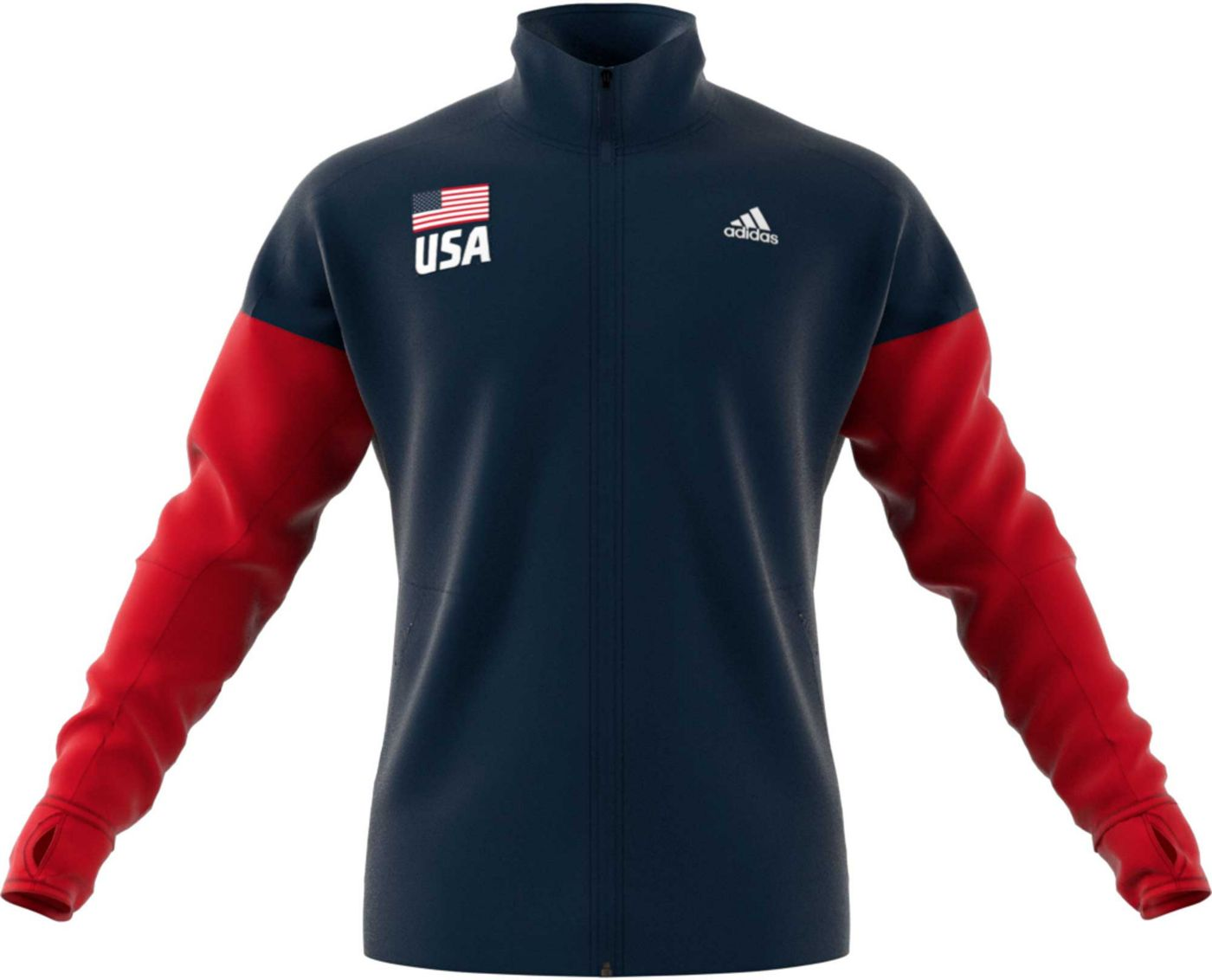 adidas Men's USA Volleyball Full-Zip Warmup Jacket