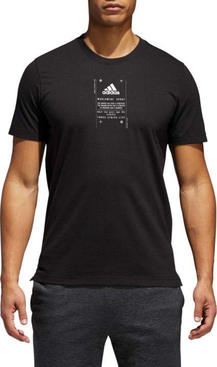 033d5908725 adidas Men s Athletics Bagde of Sport Label Graphic Tee. noImageFound