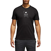 adidas Men's Athletics Bagde of Sport Label Graphic Tee