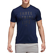 adidas Men's Three Stripe Life Stitch T-Shirt