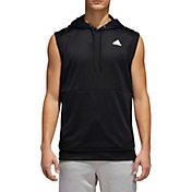 adidas Men's Team Issue Lite Sleeveless Hooded Pullover