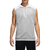 adidas Men's Team Issue Lite Sleeveless Hooded Pullover