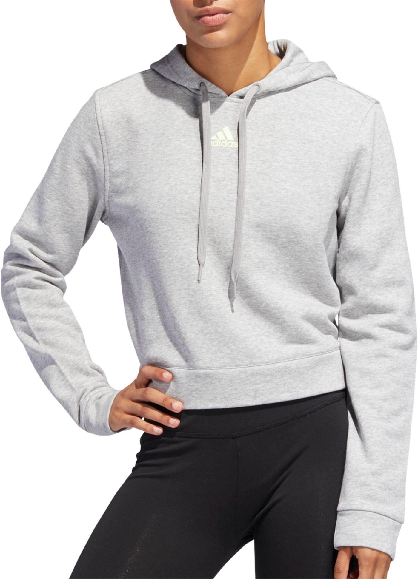 adidas Women's 3-Stripes Cropped Hoodie