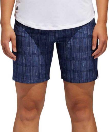 adidas Women's Ultimate Club Printed Golf Shorts