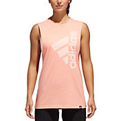 adidas Women's Badge Of Sport Hack Muscle Tank Top