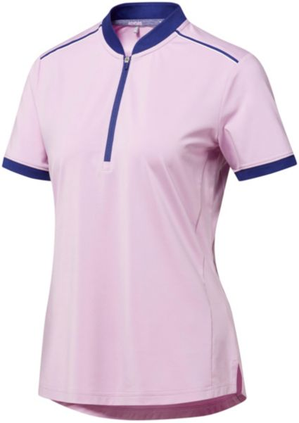 adidas Women's Climacool Short Sleeve Zipper Golf Polo