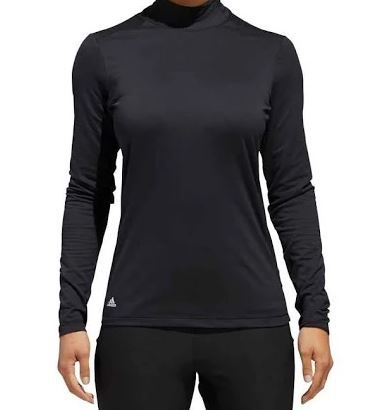 adidas Women's Climaheat Long Sleeve Base Layer Top, Size: XS, Black thumbnail