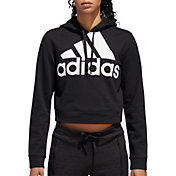 adidas Women's Cropped French Terry Hoodie
