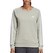 2fbcef371e2 Product Image · adidas Women s Essentials 3-Stripes Crewneck Sweatshirt