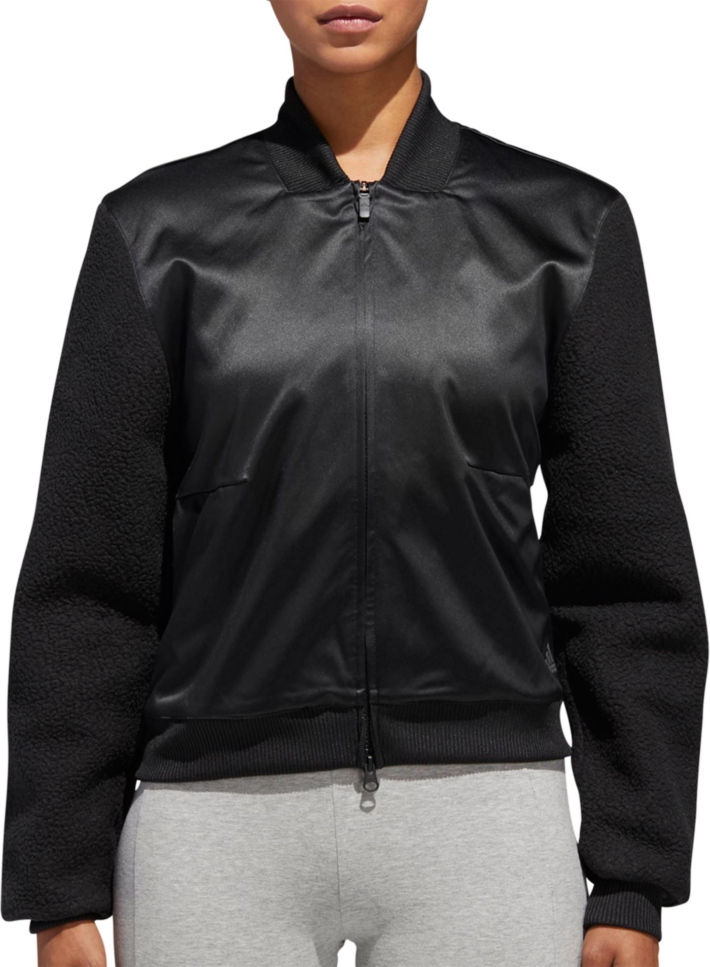 adidas Women's Sport ID Sherpa Bomber Jacket