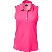 adidas Women's Advantage Microdot Hybrid Racer Golf Polo