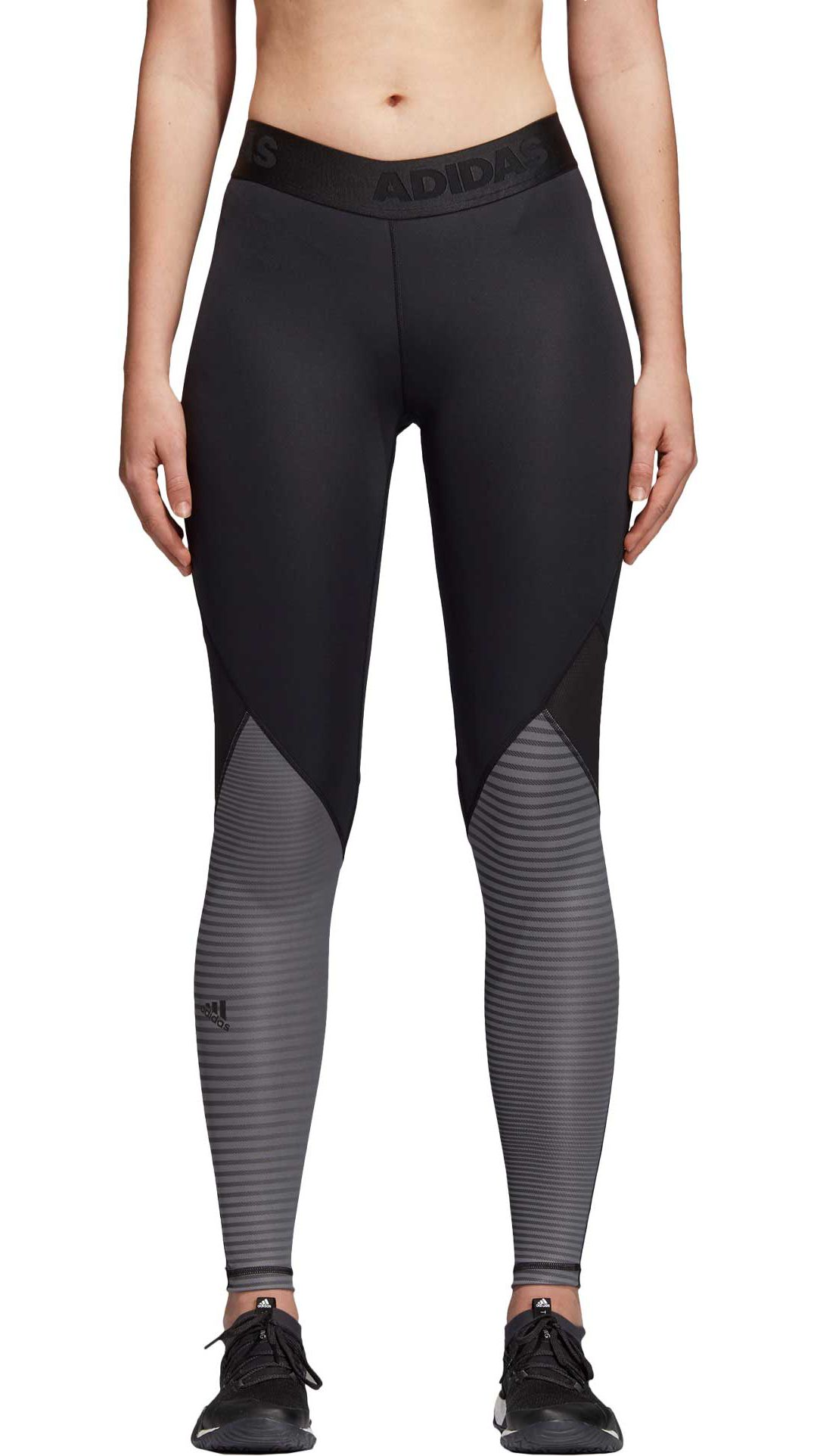 61eae9a99b7 adidas Women s Alphaskin Sport Long Printed Tights 1