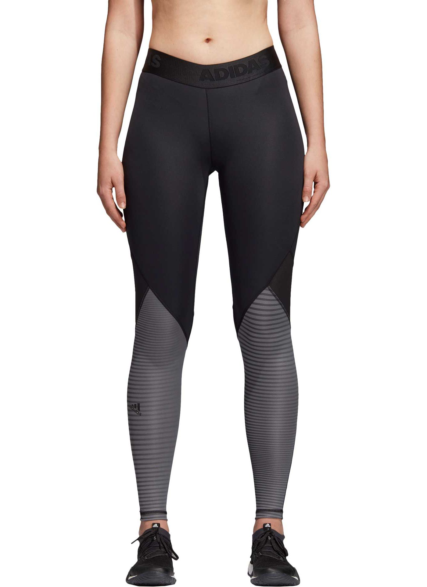 adidas Women's Alphaskin Sport Long Printed Tights