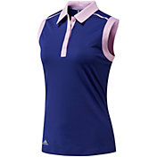 adidas Women's Ultimate 2 Tone Sleeveless Golf Polo