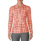 adidas Women's Ultimate365 UPF Printed Golf Polo