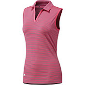 adidas Women's Ultimate365 Sleeveless Stripe Golf Polo