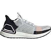 adidas Women's Ultraboost 19 Running Shoes in White/Purple/Black