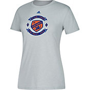 adidas Women's FC Cincinnati Best Crest Heather Grey Performance T-Shirt