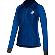 adidas Men's FC Cincinnati Best Crest Blue Performance Quarter-Zip Pullover