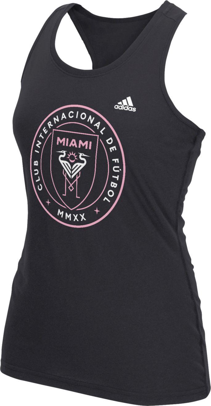 huge discount 5382c 88304 adidas Women's Inter Miami CF Crest Black Performance Racerback Tank Top