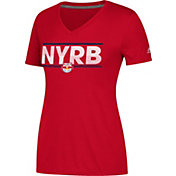 adidas Women's New York Red Bulls Ultimate Red Performance V-Neck T-Shirt