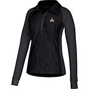 adidas Women's East Carolina Pirates Vertical Performance Black Quarter-Zip