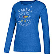 adidas Women's Kansas Jayhawks Blue All-Star Long Sleeve Basketball T-Shirt