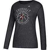 adidas Women's Louisville Cardinals All-Star Long Sleeve Basketball Black T-Shirt