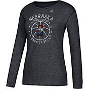 adidas Women's Nebraska Cornhuskers All-Star Long Sleeve Basketball Black T-Shirt