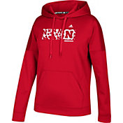 adidas Women's Nebraska Cornhuskers Scarlet Team Issue Performance Football Hoodie