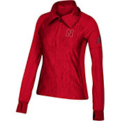 adidas Women's Nebraska Cornhuskers Vertical Performance Black Quarter-Zip