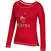 adidas Women's Nebraska Cornhuskers Scarlet Long Sleeve T-Shirt