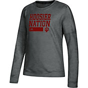 adidas Women's Indiana Hoosiers Grey Team Issue Performance Sweatshirt