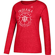 adidas Women's Indiana Hoosiers Crimson All-Star Long Sleeve Basketball T-Shirt