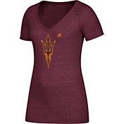 adidas Women's Arizona State Sun Devils Maroon Tri-Blend V-Neck T-Shirt