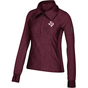 adidas Women's Texas A&M Aggies Vertical Performance Black Quarter-Zip
