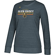 adidas Women's Vegas Golden Knights Heather Grey Sweatshirt