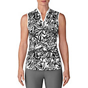 adidas Women's Printed Sleeveless Golf Polo