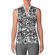 adidas Women's Printed Sleeveless Golf Polo