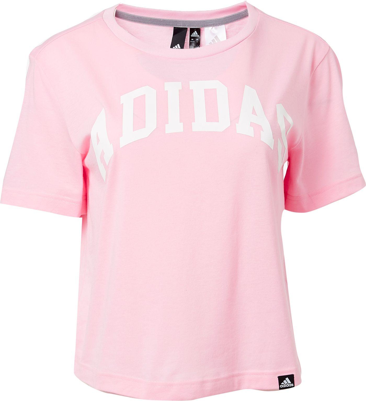 adidas Women's Essentials Collegiate Graphic Cropped T-Shirt
