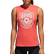 adidas Women's Soccer Emblem Muscle Tank Top