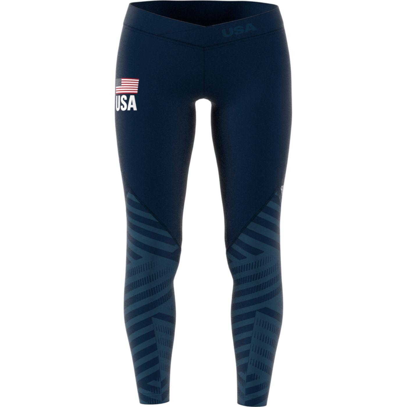 Adidas Women's Alphaskin USA Volleyball Long Tights