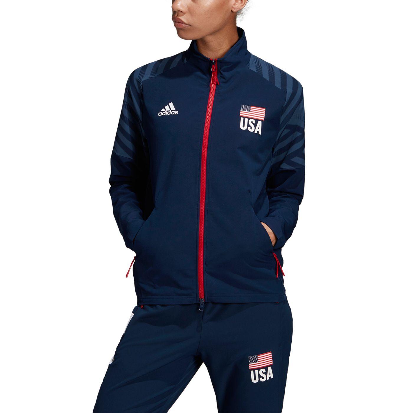 Adidas Women's USA Volleyball Warm-Up Jacket